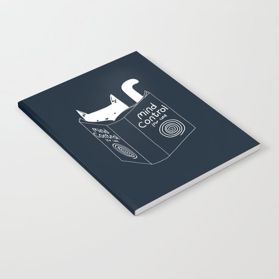 Mind Control For Cats (dark blue) Notebook
