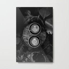 Coffees (Black and White) Metal Print