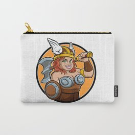 cartoon barbarian viking girl Carry-All Pouch
