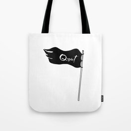 Quiet Revolution | Black Quiet Flag | Introvert Tote Bag