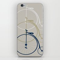 bikes iPhone & iPod Skins featuring Bikes by deugeniodesigns