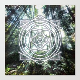 Sacred Geometry Forest Canvas Print