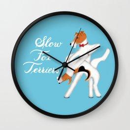 Slow Fox Terriers Wall Clock