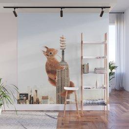Squirrel-zilla Wall Mural