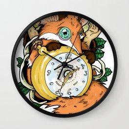 Fox Of The Pocket Watch Wall Clock