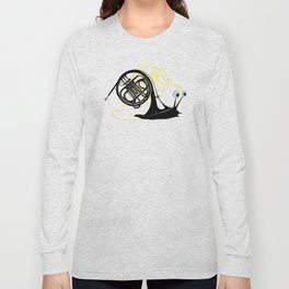 Just moved.  (French Horn) Long Sleeve T-shirt