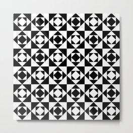 Squares in Squares Metal Print