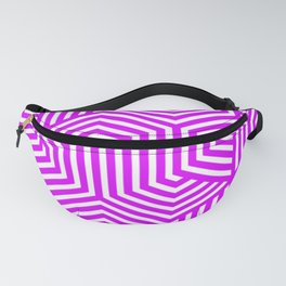 Psychedelic purple - violet - Minimal Vector Seamless Pattern Fanny Pack