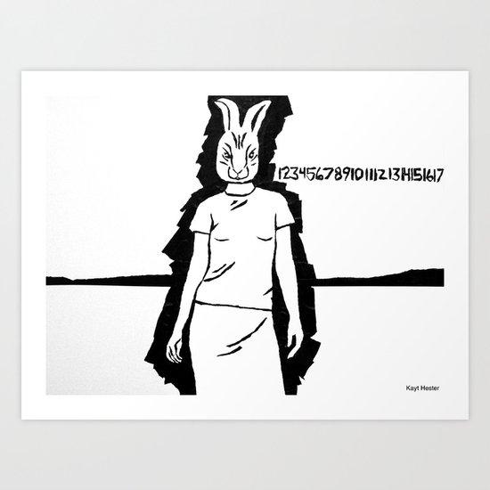 Rabbit girl.  Art Print