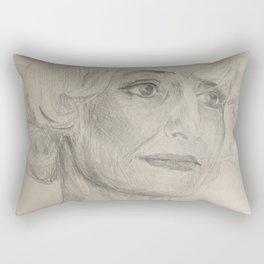 Home Decor Drawing Woman Digital Digital Sketch Modern Room Wall Art Wall Hanging Rectangular Pillow