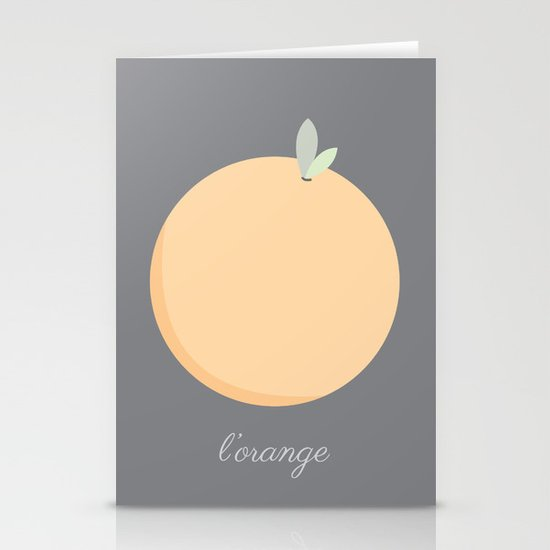 L'orange Stationery Cards