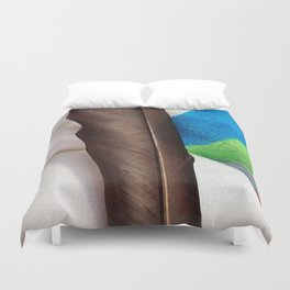Feather and Beach Towel Duvet Cover