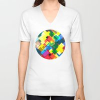 maps V-neck T-shirts featuring Maps by Tony Vazquez