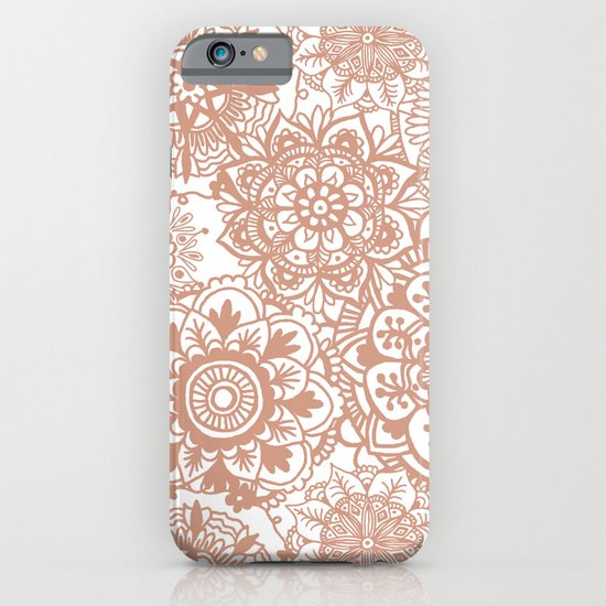 rose gold mandala pattern iphone 7 case cases