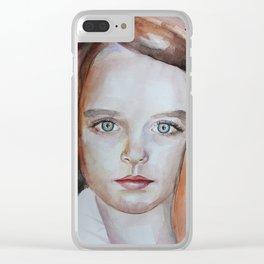 Artwork watercolor portrait Mckenna Grace Clear iPhone Case