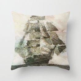 Mary Celeste - a ghost ship Throw Pillow