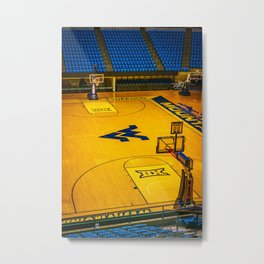 West Virginia Basketball Floor Print Metal Print