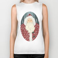 santa Biker Tanks featuring Santa by Beesants