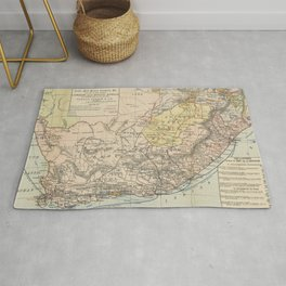 Vintage South Africa Resource Map (1889) Rug
