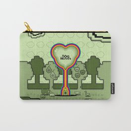 Two Balloon Unlocked Hearts Carry-All Pouch