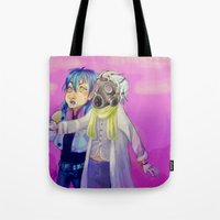 dmmd Tote Bags featuring Watch out! Clear and Aoba by Mottinthepot