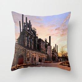 Industrial Landmark Throw Pillow