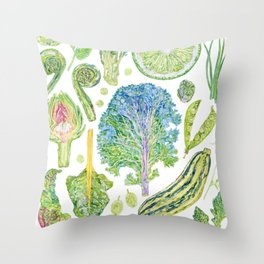 Harvest of Green Throw Pillow