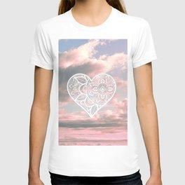 Heart Mandala in the Sky T-shirt