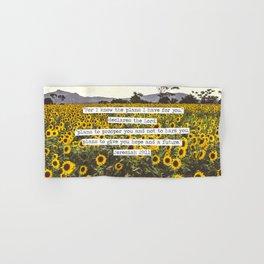Jeremiah Sunflowers Hand & Bath Towel