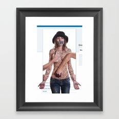 a facebook commentary Framed Art Print