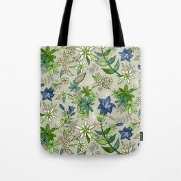 Alpine Flowers - Gentian, Edelweiss Tote Bag