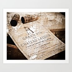 Great Wines Of Bordeaux - Chateau Latour 1955 Art Print