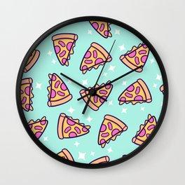 Pizza Magic // Green Wall Clock
