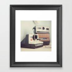 Vintage Cameras. Framed Art Print