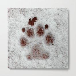 Puppy print Metal Print