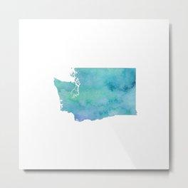 Watercolor Washington State Metal Print