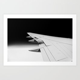 Black and White Flight Art Print