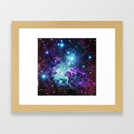 Fox Fur Nebula : Purple Teal Galaxy Framed Art Print