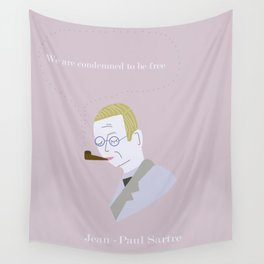 Tiny Sartre Wall Tapestry