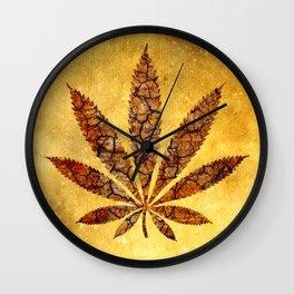 Vintage Cannabis Leaf Wall Clock