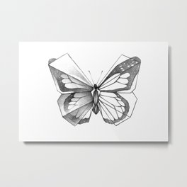 Butterfly Origami Metal Print