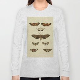 Vintage Moths Long Sleeve T-shirt