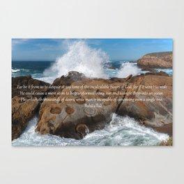 A Single Drop Into An Ocean Canvas Print