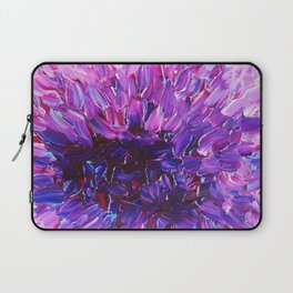 LOTUS BLOSSUM - Beautiful Purple Floral Abstract, Modern Decor in Eggplant Plum Lavender Lilac Laptop Sleeve