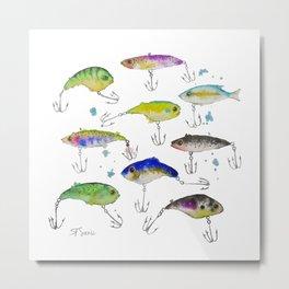 Fishing is Fly No3 Metal Print