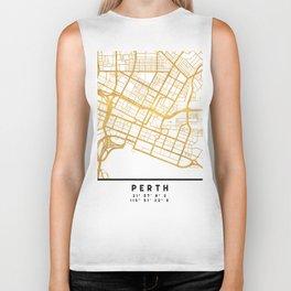 PERTH AUSTRALIA CITY STREET MAP ART Biker Tank