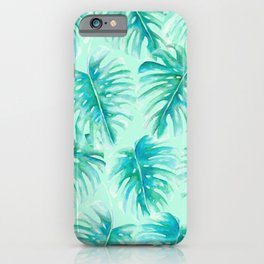 Paradise Palms Mint iPhone Case