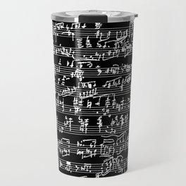Hand Written Sheet Music // Black Travel Mug
