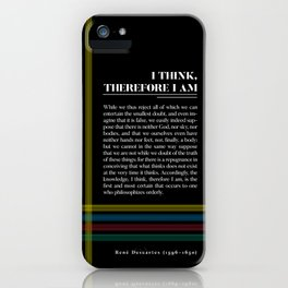 Philosophia II: I think, therefore I am iPhone Case