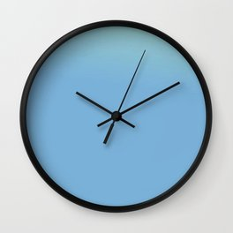 Ombre in Light Blue Wall Clock
